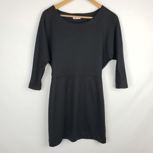 UO silence and noise black batwing sleeve dress